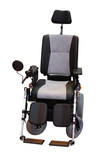 A Grey and Black Motorised Disability Wheelchair. poster