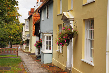 Cottages on an English Village Street