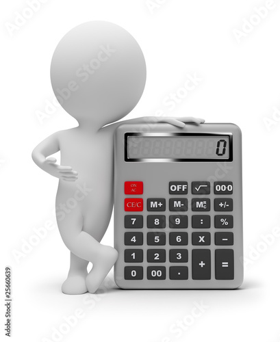 3d small people - calculator