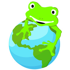 grenouille sur sa planète