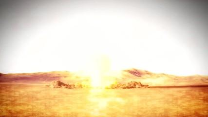 Nuclear Explosion Scene Composite