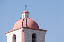the belltower of mission santa barbara