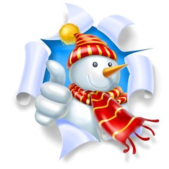 snowman ok strap red