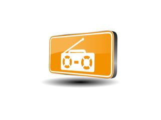 Radio/Kassettenrekorder - Vektor 3d