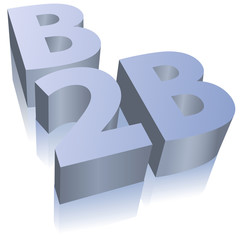 B2B e-commerce business symbol