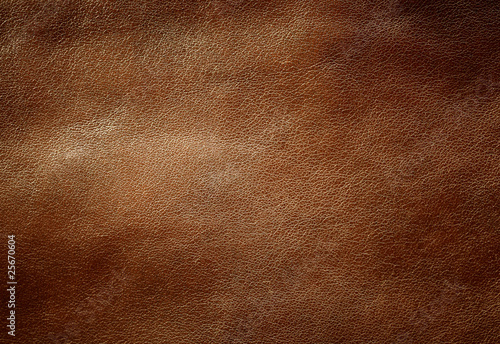 Brown shiny leather texture. - 25670604