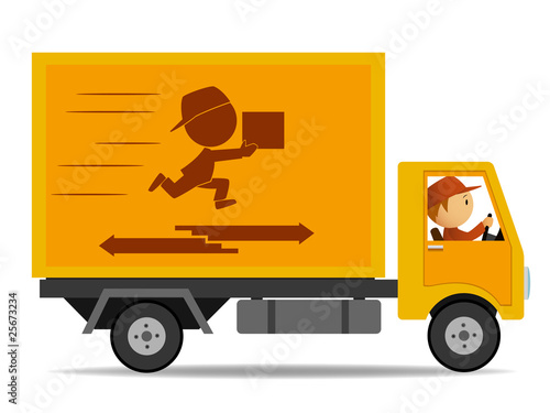 Truck delivery with driver