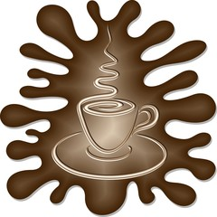 Caffe in Tazzina Astratto-Abstract Cup of Coffee-2-Vector