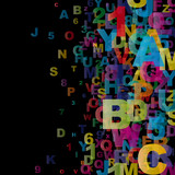 Abstract Alphabet #1 - 25674259