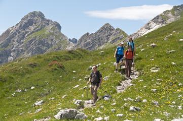 Hiking im Hochgebirge