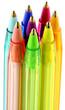 stylos de couleurs, fond blanc