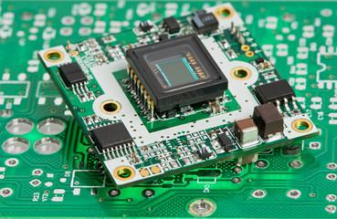 microchip board with sensor