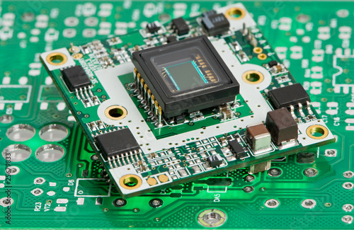 microchip board with sensor - 25679833