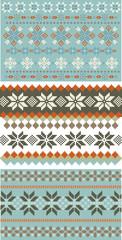 3 snowflake knitting, patterns