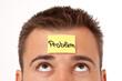 Haftnotitz auf der Stirn Problem