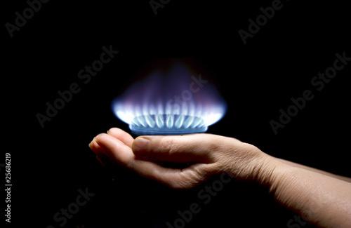 In de dag Vuur / Vlam gas