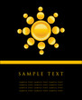 Sun symbol. Vector illustration,