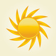 Sun symbol. Vector illustration,