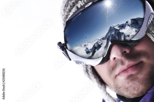 Fototapeten,maske,wintersports,skilaufen,aktion