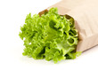 fresh salad lettuce in a paper package