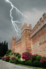 surrounding wall of the castle of Gradara