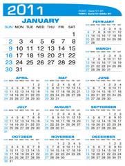 2011 - Planning - Calendar
