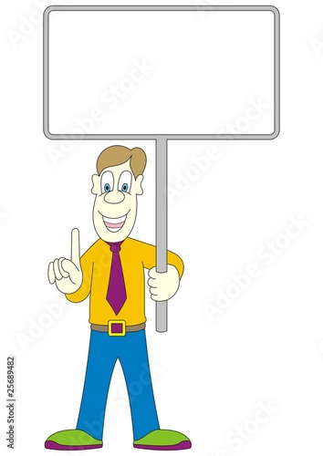 man with billboard