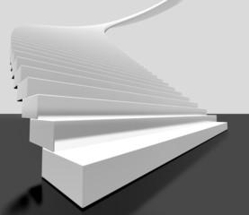 imagen 3d de escalera