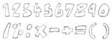 Sketchy numbers poster