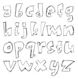 Sketchy small letters poster