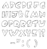 Sketchy letters poster
