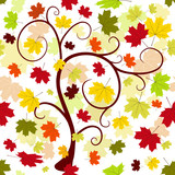 Floral seamless autumn pattern