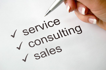 service - consulting - sales