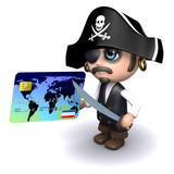 Pirate credit card transaction poster