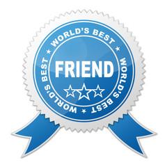 Sello WORLD'S BEST FRIEND