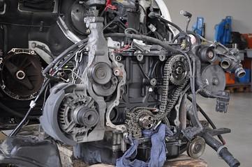 Motore smontato