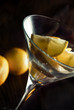 Lemon slices in martini glass