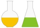 chemistry bottles colba erlenmayer poster