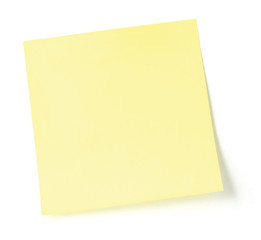 Yellow To-Do List Sticker Isolated