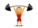 Weightlifter with rod poster