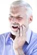 Senior man portrait toothache pain
