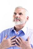 Senior man portrait serene smile poster