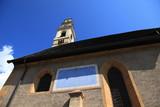 chiesa Tesero e meridiana poster