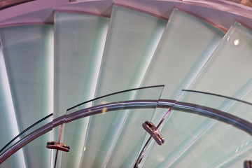Lighted Spiral Stairs Descending