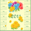 Calendar 2011 with flowers