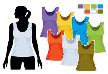 Sleeveless shirt template