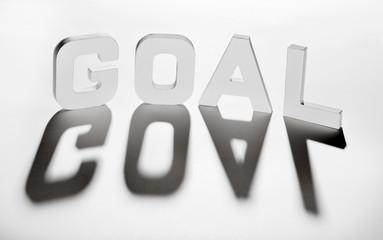 concept mot goal ombre et lumière