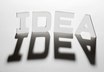 concept mot idea ombre et lumière