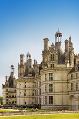 castle of a valley of the river Loire.Chambord castle