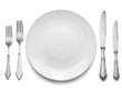 Setting with Plate, Knifes & Forks (clipping path)